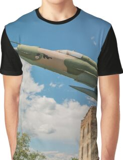 Military Jet Fighter Graphic T-Shirt