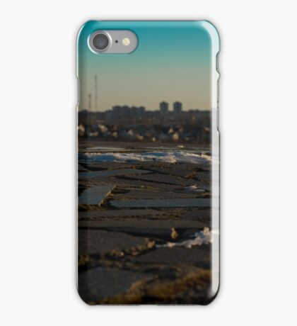 granite tiles and type of winter city  iPhone Case/Skin