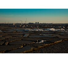 granite tiles and type of winter city  Photographic Print