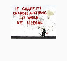 Banksy - If Graffiti Changed Anything Unisex T-Shirt