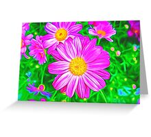 Colorful Daisies Greeting Card