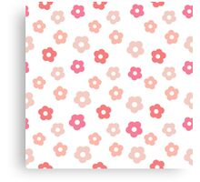 Simple cute pink pastel pattern Canvas Print