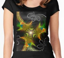Abstract #13 Women's Fitted Scoop T-Shirt