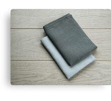 Manufactures industrial textile - grey towels pile  Canvas Print