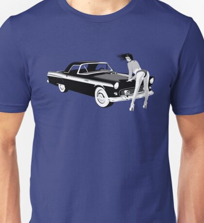 Pin-up girl & hot car  Unisex T-Shirt