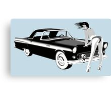 Pin-up girl & hot car  Canvas Print