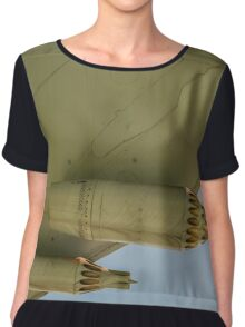 Jet Aircraft Undercarriage Chiffon Top