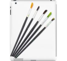 set of brushes for drawing isolated  iPad Case/Skin