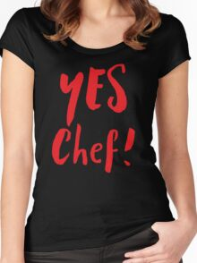 YES CHEF! Women's Fitted Scoop T-Shirt
