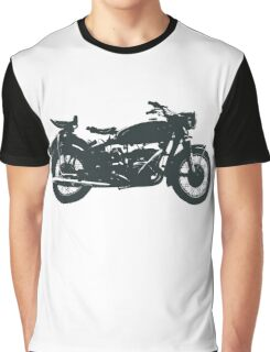 motorcycle, antique, vintage, classic, old, retro, cool, unique, biker, old biker, old. Graphic T-Shirt