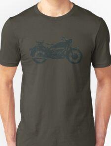 motorcycle, antique, vintage, classic, old, retro, cool, unique, biker, old biker, old. Unisex T-Shirt