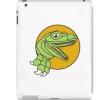 Raptor Head Breaking Out Wall Circle Drawing iPad Case/Skin