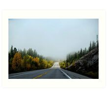 Road in the autumn Art Print