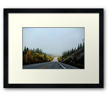Road in the autumn Framed Print