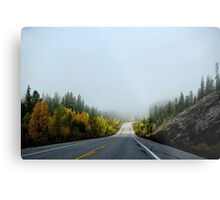 Road in the autumn Metal Print