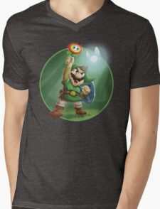 The Legend of Mario Mens V-Neck T-Shirt