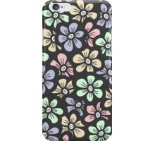 Cute retro color floral pattern iPhone Case/Skin