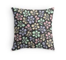 Cute retro color floral pattern Throw Pillow
