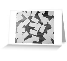 white sheets of paper scattered  Greeting Card