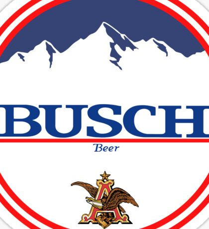 buschlight, busch light, busch, beer, drink, mountain, pub, logo, symbol. Sticker