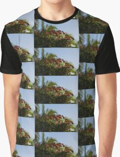 Palm Trees and Tropical Flowers Graphic T-Shirt