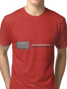 Caps Lock Tri-blend T-Shirt