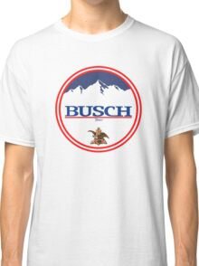 buschlight, busch light, busch, beer, drink, mountain, pub, logo, symbol. Classic T-Shirt