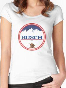 buschlight, busch light, busch, beer, drink, mountain, pub, logo, symbol. Women's Fitted Scoop T-Shirt