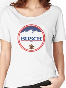 buschlight, busch light, busch, beer, drink, mountain, pub, logo, symbol. Women's Relaxed Fit T-Shirt