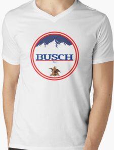 buschlight, busch light, busch, beer, drink, mountain, pub, logo, symbol. Mens V-Neck T-Shirt