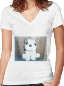 Pete the Pup - A gorgeous Gift Women's Fitted V-Neck T-Shirt