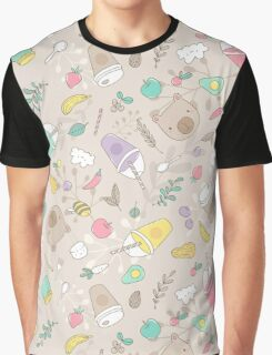 Bear and smoothie Graphic T-Shirt