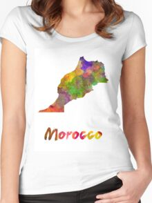 Morocco in watercolor Women's Fitted Scoop T-Shirt