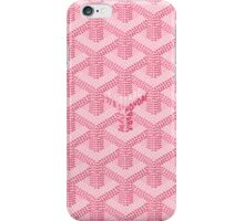 goyard pink logo iPhone Case/Skin