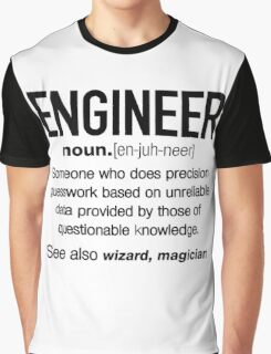 Engineer Definition Funny T-shirt Graphic T-Shirt