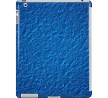 Brilliant Jewel Blue Abstract Faux Bumpy Crinkled Crumpled Paper Pattern iPad Case/Skin