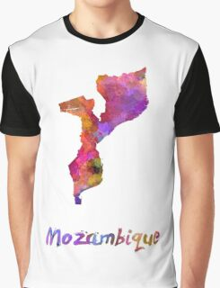 Mozambique in watercolor Graphic T-Shirt