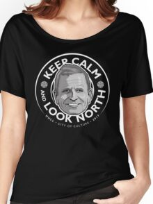 Keep Calm with Peter Levy Women's Relaxed Fit T-Shirt