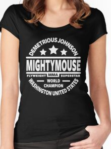 "Demetrious ""Mightmouse"" Johnson Women's Fitted Scoop T-Shirt"