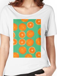 ORANGE PATTERN Women's Relaxed Fit T-Shirt