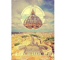 Geometric Vatican St Peter's Square Basilica Dome Italy Rome Photographic Print