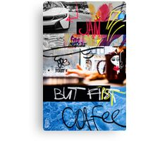 But first coffee mega jam Canvas Print