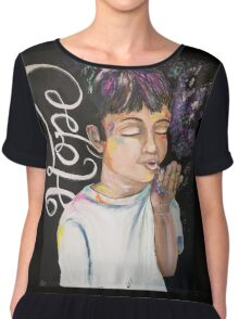 Breathe in the Hope, Exhale the Circumstances Chiffon Top