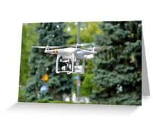Flying Drone Greeting Card