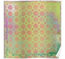 Pop Painted Watercolor - Bright and Bold green and coral pattern Poster