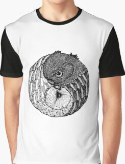 Yin Yang Owls Graphic T-Shirt