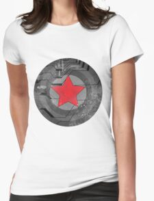 Winter Solider Shield Womens Fitted T-Shirt