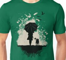 Girl walk the Dog Unisex T-Shirt