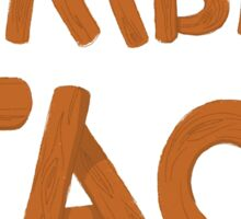 LUMBER JACK (lumberjack) quick draw in wooden type Sticker