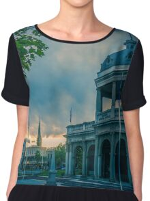 Sunset at the Soldiers Memorial - Bendigo, Victoria Chiffon Top